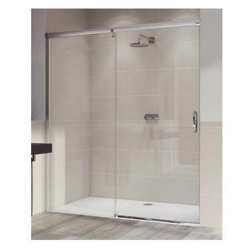 HUPPE AURA ELEGANCE Drzwi 1-częściowe 120x190 lewe, srebrny mat, szkło transp. 401404087321 (drzwi prysznic