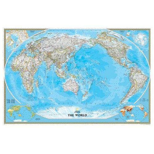 Świat. Mapa ścienna polityczna Pacific Centered 1:36,4 mln wyd. , produkt marki National Geographic