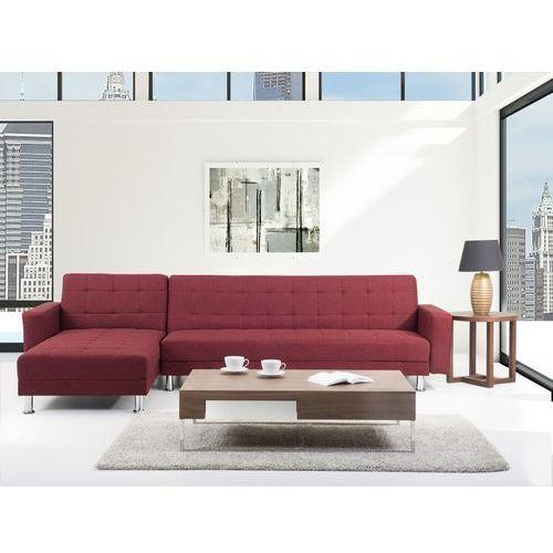 Sofa czerwona - Sofa narozna - Sofa rozkladana - Sofa tapicerowana - ABERDEEN, Beliani