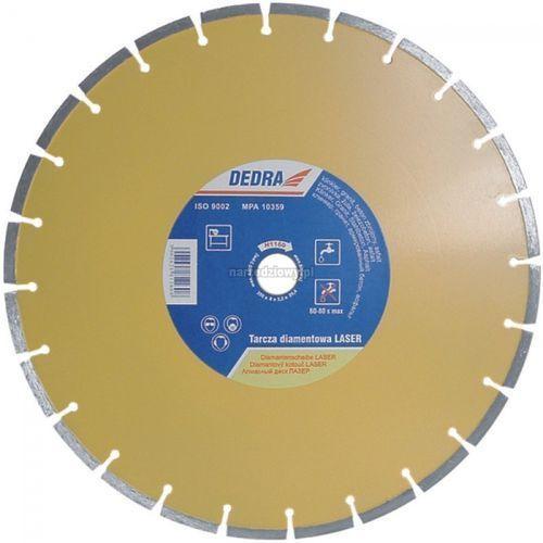 DEDRA Tarcza diamentowa LASER do cięcia betonu, betonu zbrojonego, granitu, klinkieru, asfaltu, Średnica tarczy (mm): 350, Średnica otworu (mm): 25,4 ze sklepu narzedziowy.pl