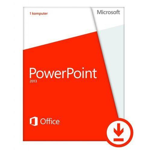 Microsoft PowerPoint 2013 - 1 komputer PC - Polski - Do pobrania - Niekomercyjna, kup u jednego z partnerów
