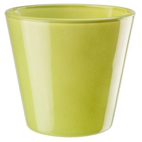 Osłonka szklana średnica 14 cm, zielona, produkt marki Galicja