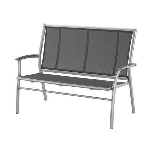 Ławka aluminiowa trzyosobowa w kolorze srebrnym, Kettler
