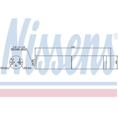 Towar z kategorii: osuszacze powietrza - Osuszacz, klimatyzacja NISSENS 95383