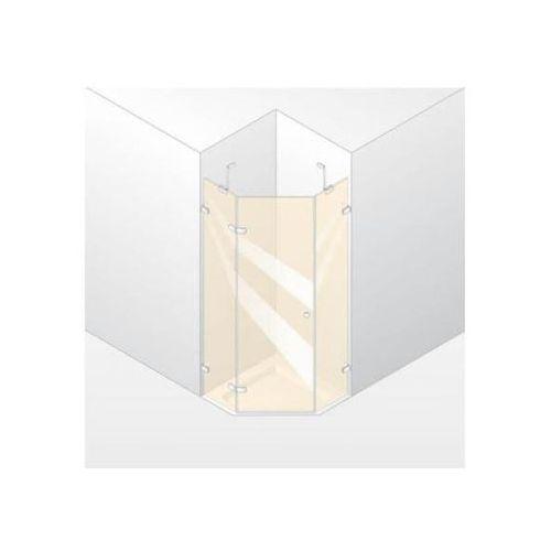 Huppe Enjoy Elegance Drzwi skrzydłowe ze stałymi segmentami, 1-częsciowe - Mocowanie lewe 100/200cm biały