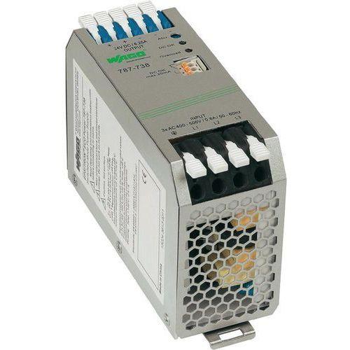Zasilacz na szynę DIN WAGO EPSITRON 787-738, 24 V/DC 6250 mA z kategorii Transformatory