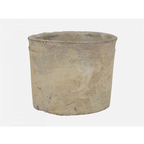 Doniczka Gliniana Cylinder I biała  1536-11, produkt marki Ib Laursen