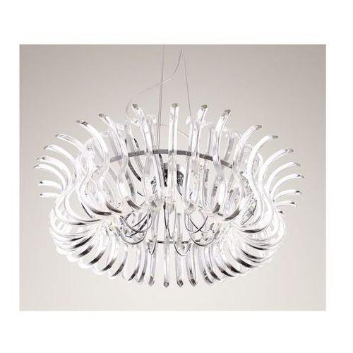 DEKORACYJNY żyrandol SZKLANA lampa WISZĄCA do salonu SIMONE Maxlight P0091 chrom - sprawdź w MLAMP.pl - Rozświetlamy Wnętrza