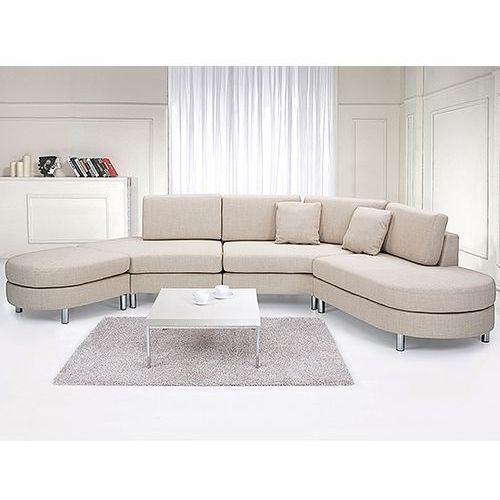 Sofa tapicerowana - kanapa z 100% poliestru bezowa - COPENHAGEN, Beliani