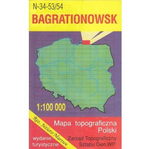 N-34-53/54 Bagrationowsk. Mapa topograficzno-turystyczna 1:100 000 wyd. WZ-Kart, produkt marki Wojskowe Zakłady Kartograficzne
