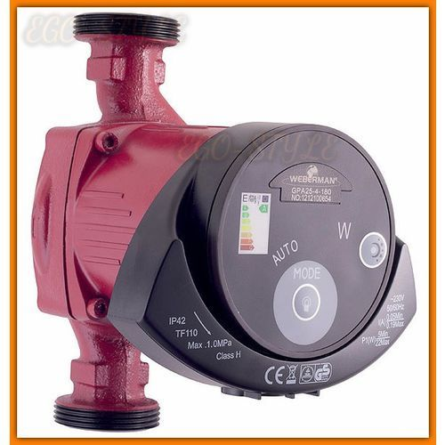 Towar z kategorii: pompy cyrkulacyjne - pompa elektroniczna GPA25-40-180 WEBERMAN 0501W do instalacji grzewczych i solarnych