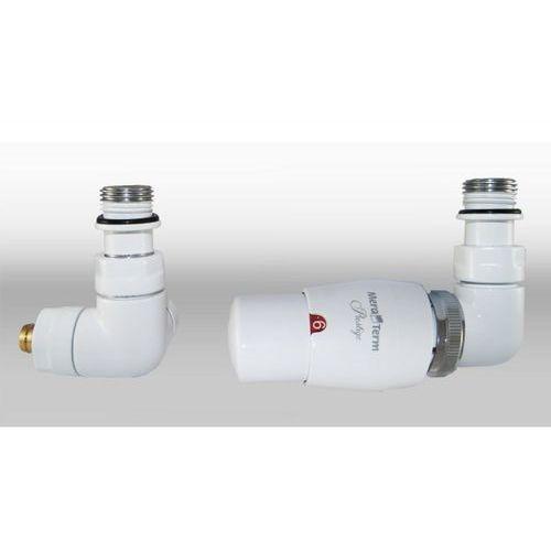 Zestaw instalacyjny vision termostatyczny wersja osiowa prawa biała wyprodukowany przez Varioterm