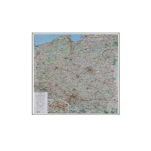 Polska mapa ścienna drogowa 1:500 000 EKO-GRAF na podkładzie korkowym, produkt marki National Geographic