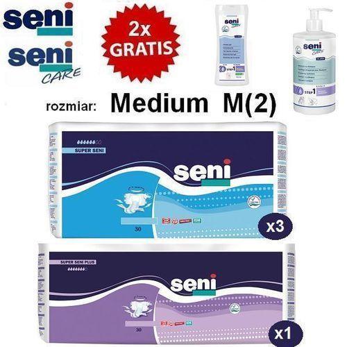 3x Pieluchomajtki Super Seni M + 1x Super Seni Plus M + Szampon + Żel, kup u jednego z partnerów