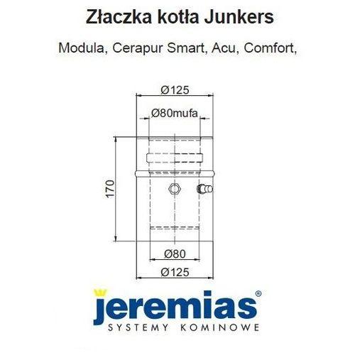 Oferta Jeremias adapter Junkers 80/125 na 80/125 złączka do kotła. TWIN1820803080125 z kat.: ogrzewanie