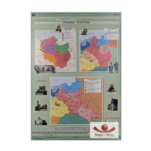 Polska Piastów. Mapa ścienna, produkt marki Nowa Era