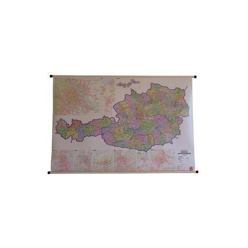 Austria mapa ścienna kody pocztowe 1:500 000  & Berndt, produkt marki Freytag
