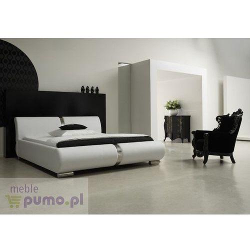 Nowoczesne łóżko tapicerowane NESSA w kolorze białym - 200 x 200cm ze sklepu Meble Pumo