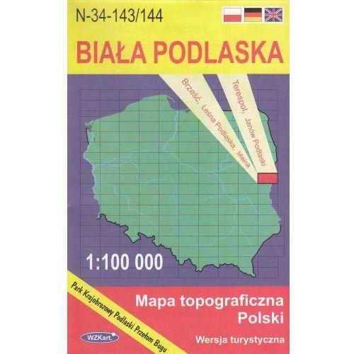 N-34-143/144 Biała Podlaska. Mapa topograficzno-turystyczna 1:100 000 wyd. WZ-Kart, produkt marki Wojskowe Zakłady Kartograficzne