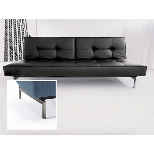 Sofa Splitback czarna 582 nogi stalowe  741010582-741010-8-2, INNOVATION iStyle