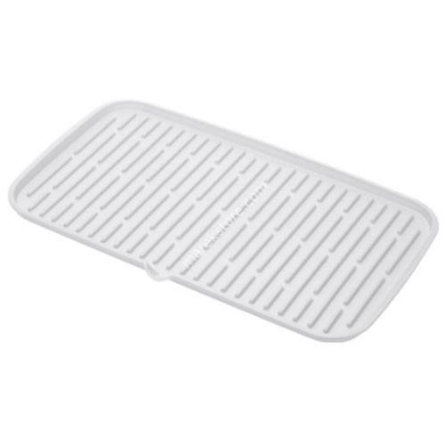 Ociekacz silikonowy do suszenia naczyń 42x24 cm - odcienie bieli - produkt z kategorii- suszarki do naczyń