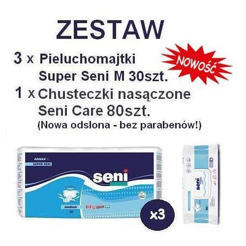 Produkt Pieluchomajtki Super Seni (2) Medium 3op. x 30szt. + chusteczki nasączane Seni 80szt.