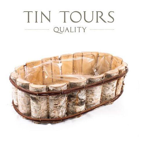 Produkt OWALNA BALKONÓWKA Z BRZOZY 55x32x15 cm, marki Tin Tours Sp.z o.o.