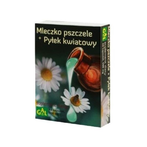 MLECZKO PSZCZELE i PYŁEK KWIATOWY 48 kaps., postać leku: kapsułki