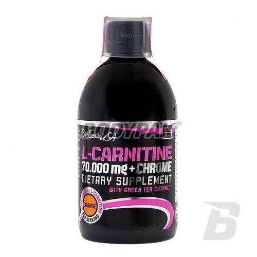 Biotech l-carnitine 70000mg + chrome - 500ml wyprodukowany przez Biotech usa