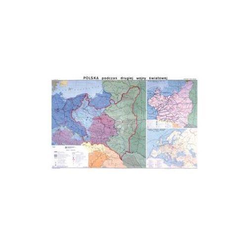 Produkt Polska podczas drugiej wojny światowej. Mapa ścienna., marki Nowa Era