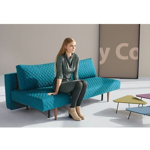 Istyle Recast COZ Sofa Rozkładana, PETROL COZ tkanina 611, nogi drewniane - 742060611-3-2, Innovation