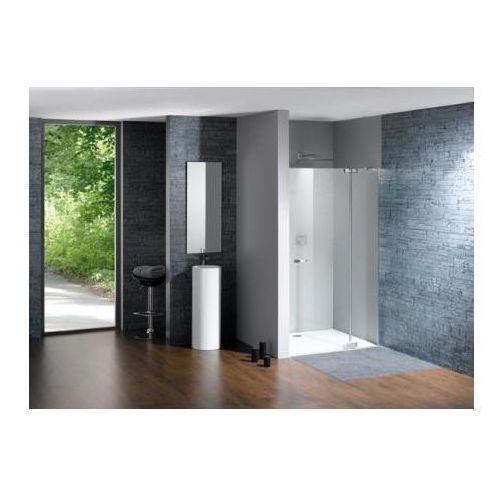 Huppe Studio Paris Elegance Drzwi prysznicowe skrzydłowe ze stałym segmentem do wnęki - Mocowanie lewe na w