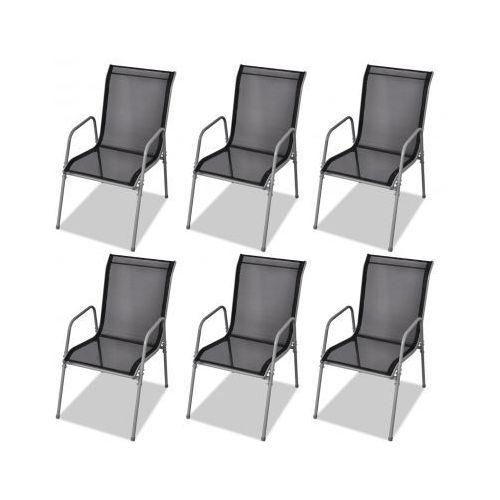 Zestaw 6 krzeseł jadalnianych do użytku na zewnątrz ze sklepu VidaXL