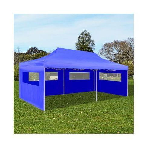 Składany namiot ogrodowy w niebieskim kolorze - produkt z kategorii- namioty ogrodowe