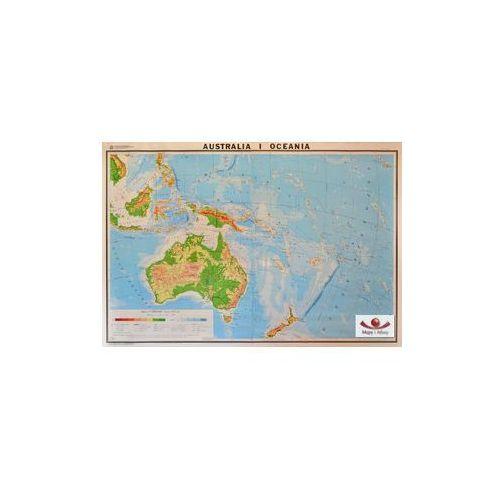 Australia i Oceania. Mapa ścienna ogólnogeograficzna (fizyczna), produkt marki Nowa Era