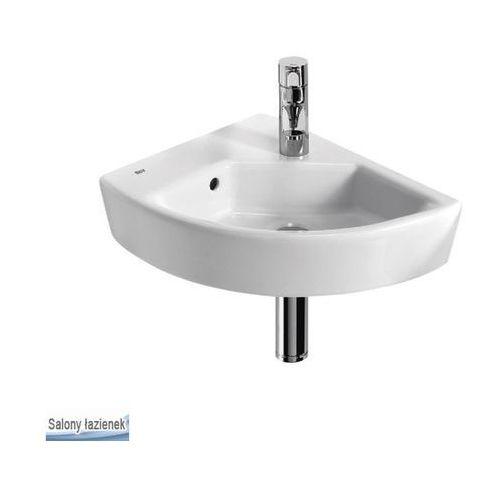 Produkt z kategorii- pozostałe artykuły hydrauliczne - Umywalka narożna 43x35cm lewa Hall Roca (A327623000)