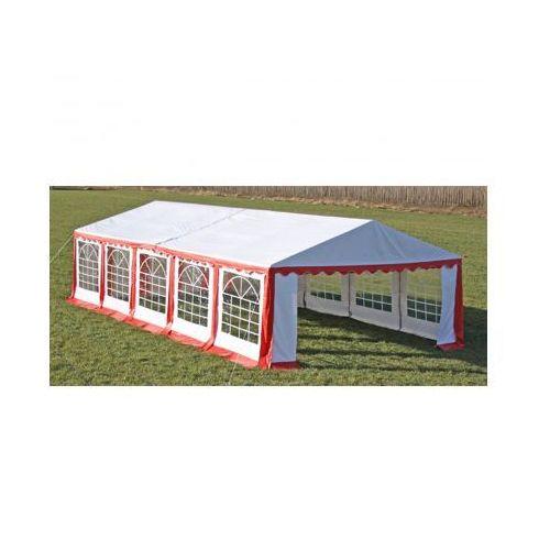 Pawilon ogrodowy 10x5m (dach+penele boczne), czerwono-biały, produkt marki vidaXL