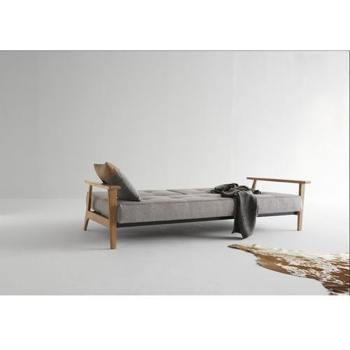 Istyle Splitback Frej Sofa Rozkładana z Drewnianymi Podłokietnikami Skóra Ekologiczna Brown Vintage 461 - 741010461, Innovation