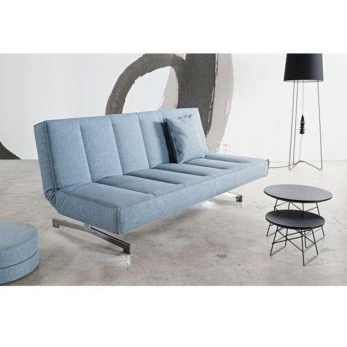 Istyle ODIN CHROM, Sofa Rozkładana, niebieska tkanina 525, nogi chromowane - 741004525chrom, Innovation