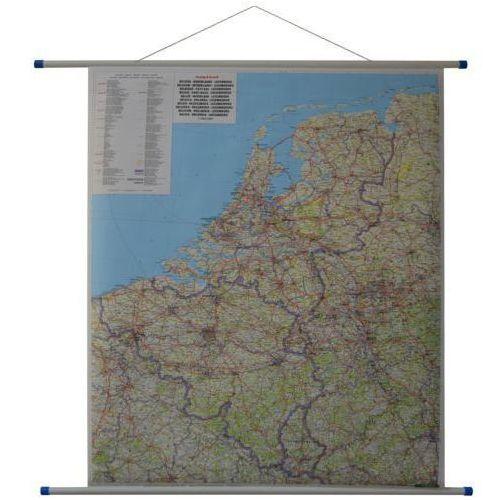 Beneluks: Belgia, Holandia i Luksemburg. Mapa ścienna drogowa 1:500 000 wyd. , produkt marki Freytag&Berndt