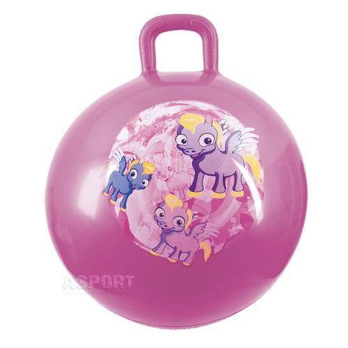 Piłka skacząca z uchwytem 45cm PONY BALL różowa , produkt marki Spokey