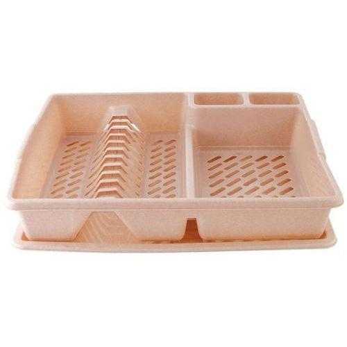Plastikowa suszarka do naczyń CURVER DUŻA BEŻOWA 44,5 x 38 cm - rabat 10 zł na pierwsze zakupy! - produkt z kategorii- suszarki do naczyń