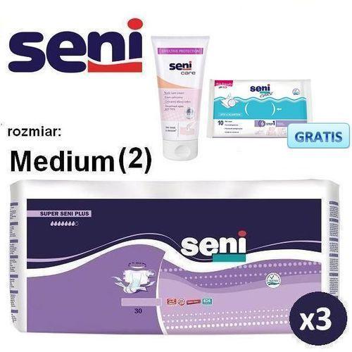 3x Pieluchomajtki Super Seni Plus M + Krem z tlenkiem cynku Seni Care, kup u jednego z partnerów