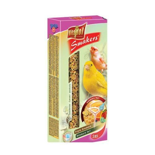 Smakers Kolby dla kanarka 3w1 (jajeczna/miodowa/owocowa) 3 sztuki, Vitapol