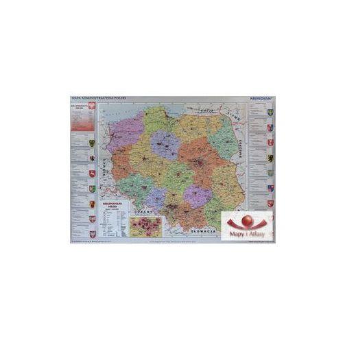Produkt Polska 1:650 000. Mapa ścienna administracyjna, marki Meridian