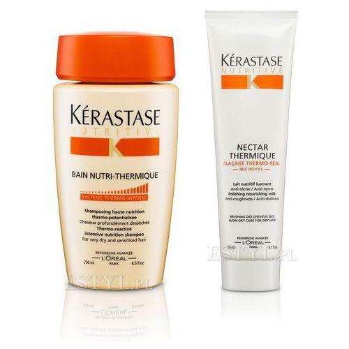 Kerastase Zestaw do włosów suchych: Kąpiel 250 + Nektar Termiczny 150ml(zestaw) - produkt z kategorii- odżywki do włosów