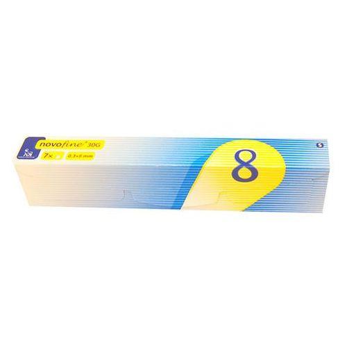 Igły do penów insulinowych NovoFine, 30G, 0,3x8mm, 7 sztuk (igła do strzykawki)