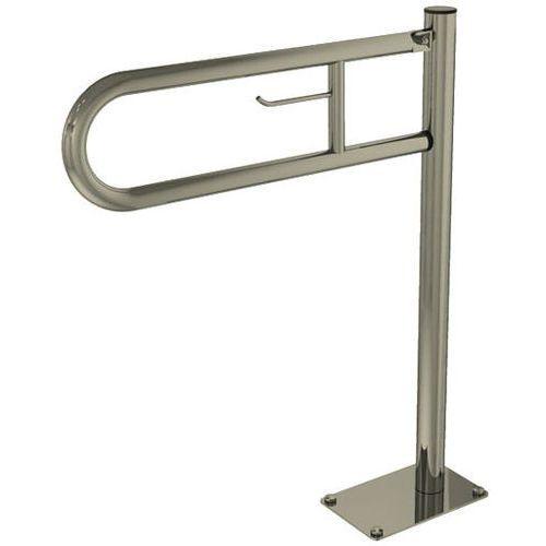 Poręcz dla niepełnosprawnych stojąca uchylna z uchwytem na papier SNM