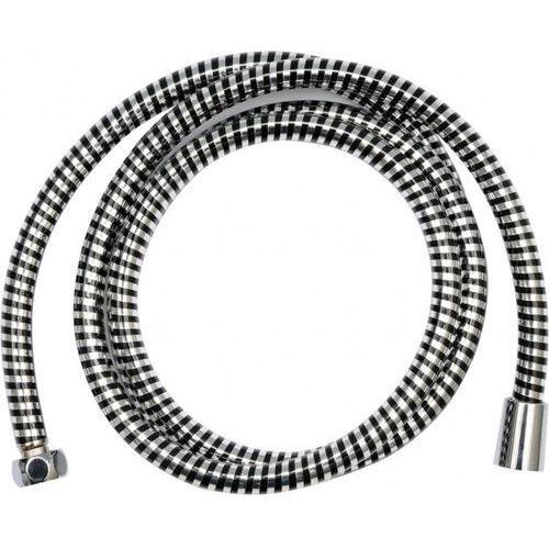 Wąż prysznicowy pvc silver/black 200cm / SZYBKA WYSYŁKA / BEZPŁATNY ODBIÓR: WROCŁAW, kup u jednego z partnerów