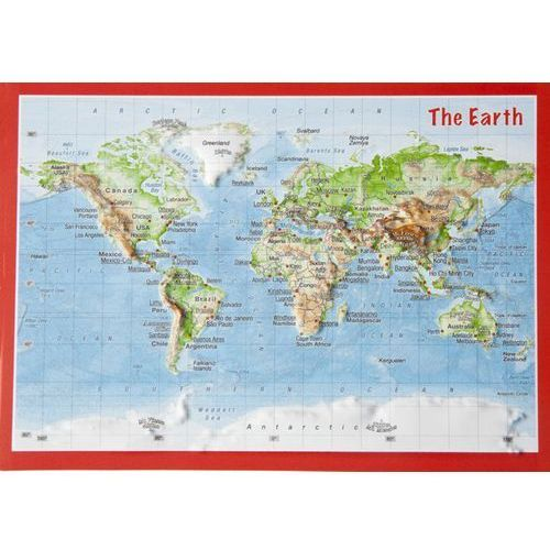 Pocztówka Świat mapa plastyczna, produkt marki Georelief GbR
